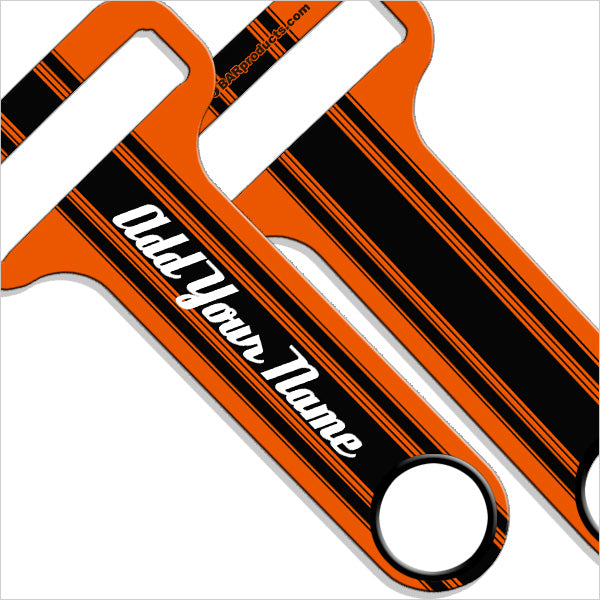"""ADD YOUR NAME"" HAMMERHEAD™ Bottle Opener - Racing Stripes Sample"