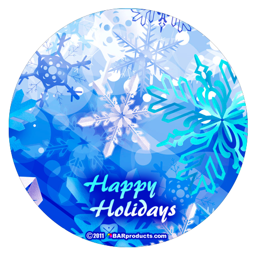 Kolorcoat™ Round Foam Coasters (4 Pack) - Happy Holidays
