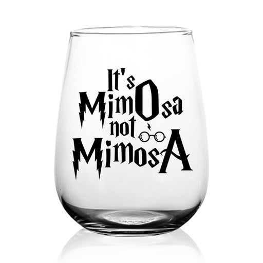 BarConic® Glassware - It's Mimosa Stemless Wine Glass