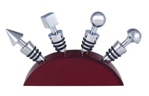 Wine Stopper Set - Chrome