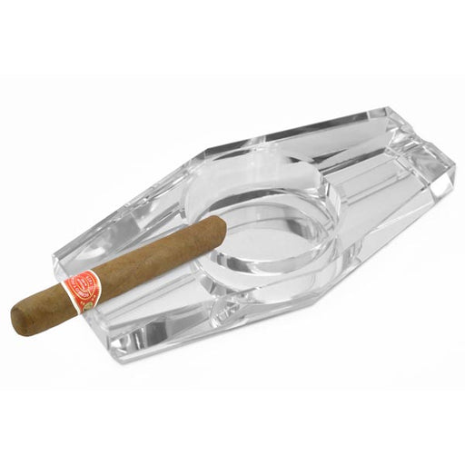 Crystal Hexagon Cigar Ashtray