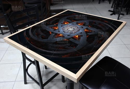 "Hexagram 24"" x 30"" Wooden Table Top - Two Types Available"