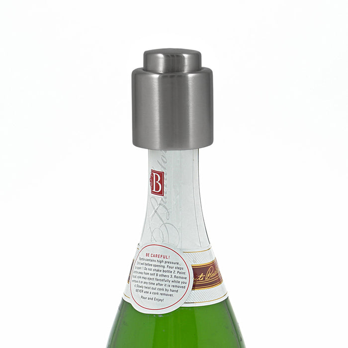 Push Button Chrome Champagne Stopper