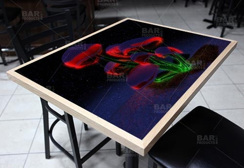 "Holiday Fluorescence 24"" x 30"" Wooden Table Top - Two Types Available"