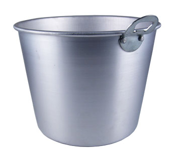 Ice Bucket with Opener - Aluminum