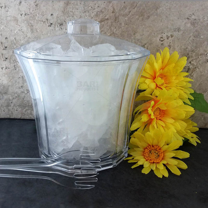 Fluted Acrylic 4 Qt. Ice Bucket