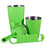 Neon Green Bar Set - 4 Pieces