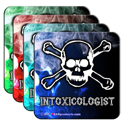 Cork Bottom Coasters - The Intoxicologist Series