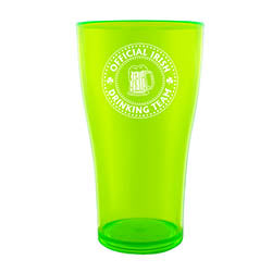 BarConic® Drinkware - Green PolyCarbonate Cup - Irish Drinking Team - 570ML