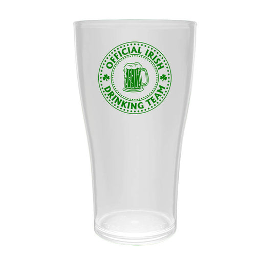 BarConic® Drinkware - PolyCarbonate Cup - Irish Drinking Team - Clear - 570ML