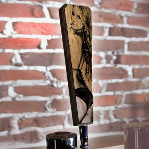 Oak Wood Beer Tap Handles - Flared Shape - I'd Tap That