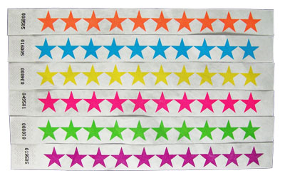 Numbered Wristbands - Stars - All