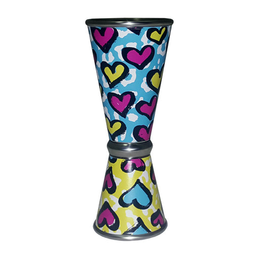 Designer Jigger - Tall Double-Sided 28ML by 56ML - CHEETAH LOVE