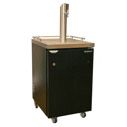 Kegerator - One Stainless Steel Tower - 1/5hp Compressor, R134A Coolent, Fits 1/2 barrel, 1/4 barrel, 1/6 barrel and Home Brew Kegs