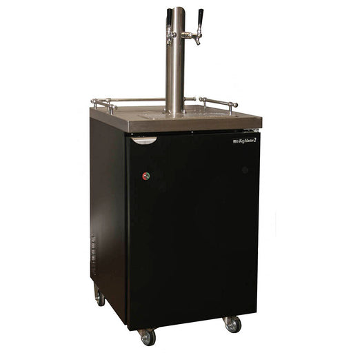 Kegerator - Two Stainless Steel Towers -  1/5hp Compressor, R134A Coolent, Fits 1/2 barrel, 1/4 barrel, 1/6 barrel and Home Brew Kegs