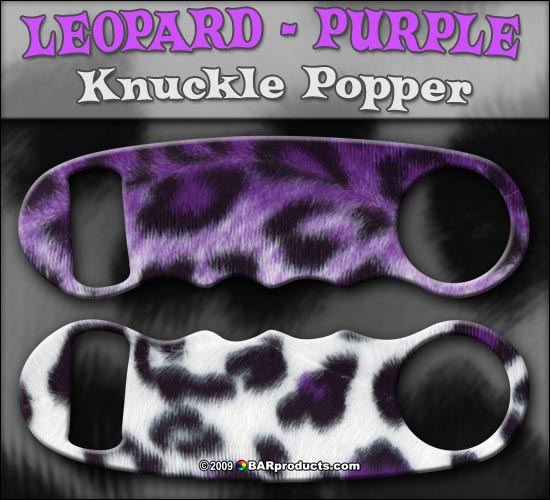 Knuckle Popper Bottle Opener - Leopard Prints - Color Options