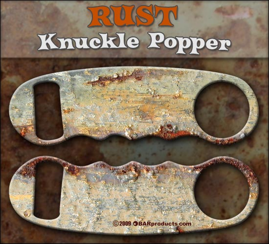 Knuckle Popper Bottle Opener - Rust