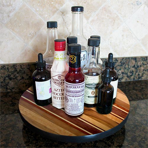 Lazy Susan - WOOD END GRAIN Designs - 3 Different Sizes - For Kitchen Table Top