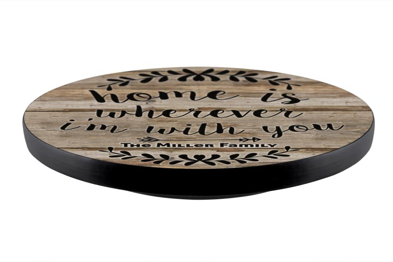ADD YOUR NAME Lazy Susan - HOME - 3 Different Sizes - Table Top