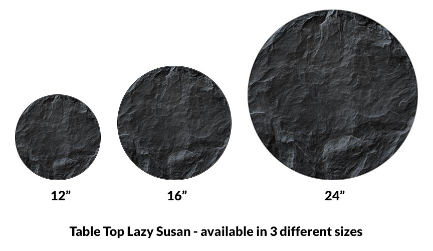 Lazy Susan - SLATE design - 3 Different Sizes - For Kitchen Table Top