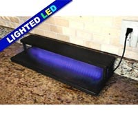 "LED Counter Caddies™ with BLACK finish - 24"" STRAIGHT Shelf"