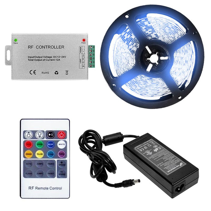 LED 5050 Light Strip Kit - 5 meter Roll - 10MM - IP20 - RF Controller