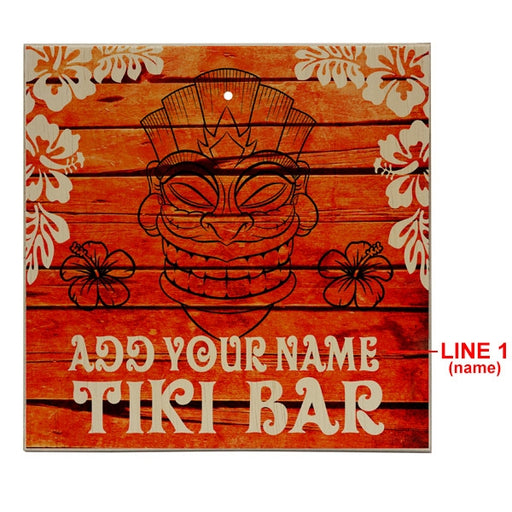ADD YOUR NAME Tabletop Ring Toss Game - Tiki