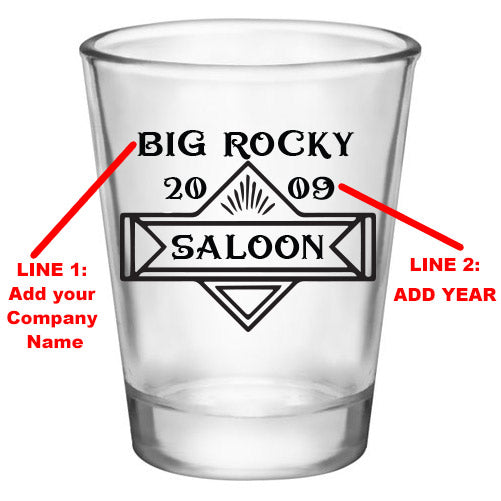 Customizable 1.75 oz. Clear Shot Glass- Saloon - AYN