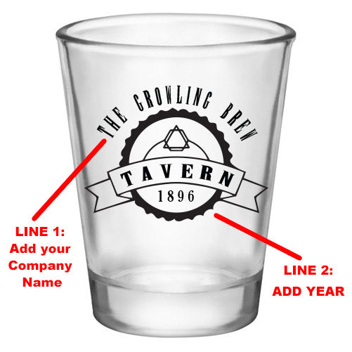 Customizable 1.75 oz. Clear Shot Glass- TAVERN - AYN
