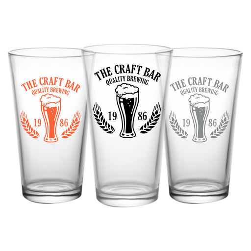 CUSTOMIZABLE - 16oz Pint / Mixing Glass- Quality