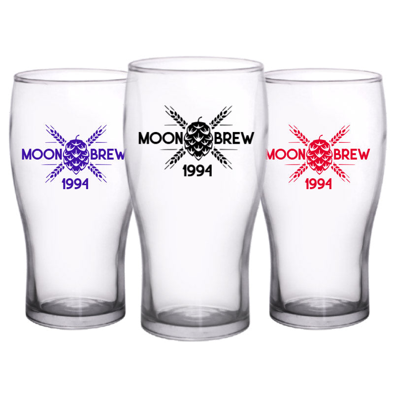 CUSTOMIZABLE - 20oz Imperial Pub Glass- Company2