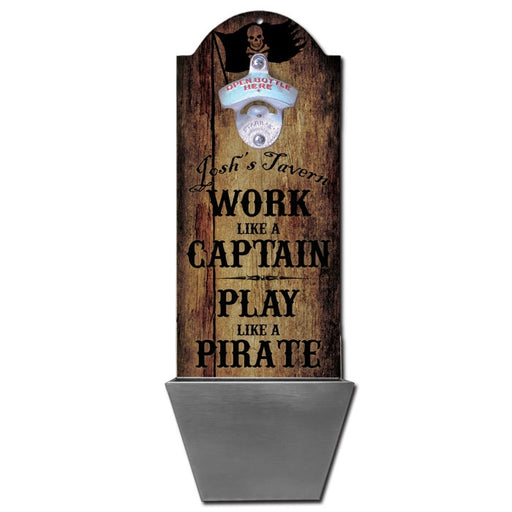 Custom Round Top Plaque with Cap Catcher - Play Like a Pirate