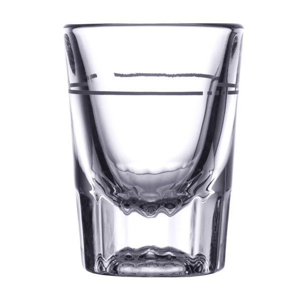 Libbey 5126/S0711 2 oz. Fluted Whiskey / Shot Glass with .875 oz. Cap Line - 48/Case