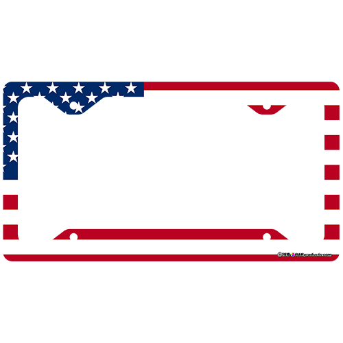 License Plate Frame - US Flag