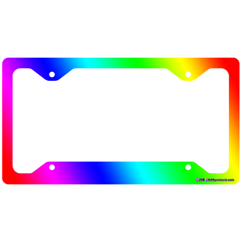 License Plate Frame - Rainbow