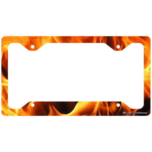 License Plate Frame - Flames