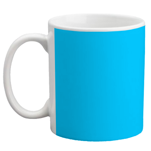 Custom Coffee Mug - Light Blue - 11 ounce