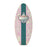 Light Pink Hawaiian Flowers Wooden Surfboard Wall Bottle Opener