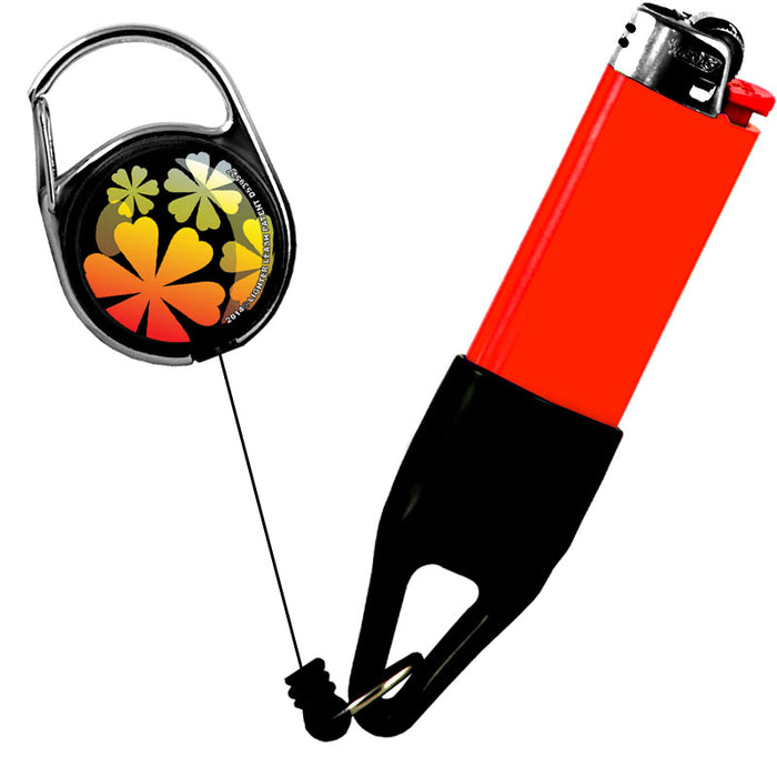 Premium Clip Lighter Leash® - Floral -Orange / Yellow / White