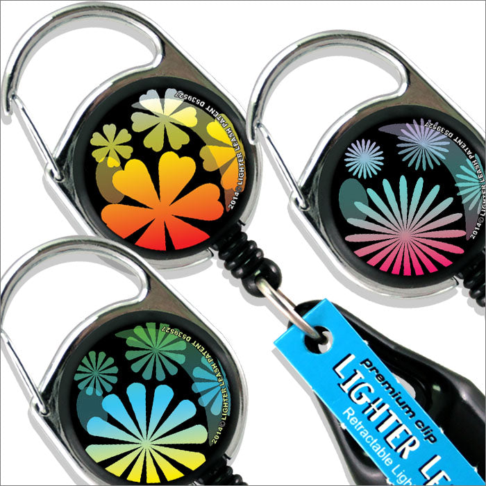 Premium Clip Lighter Leash® - 3 Pack - Floral Series