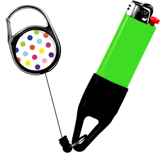 Premium Clip Lighter Leash® - Polka Dots - Colorful