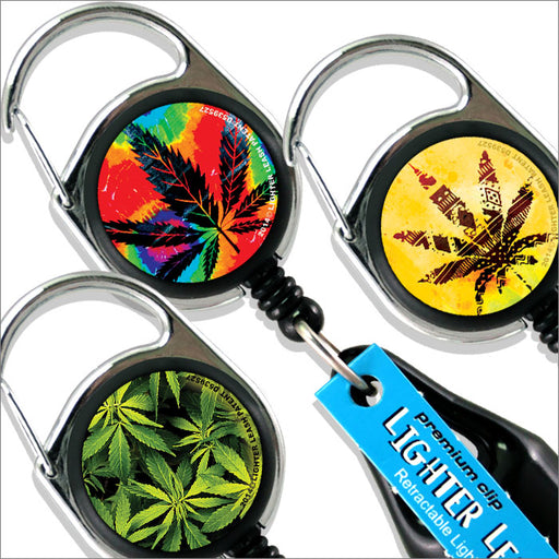 Premium Clip Lighter Leash® - 3 Pack - Pot Series