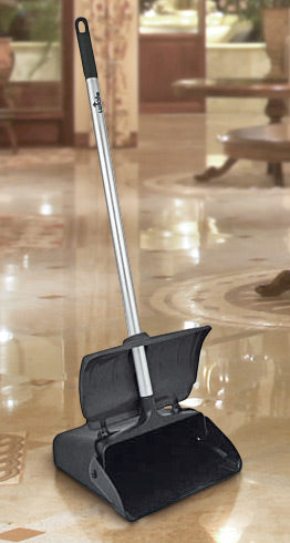 Lobby Dust Pan with Cover - 34 inch Handle