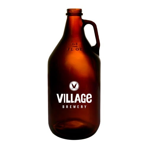 Custom Amber Glass Growler - 64 oz.