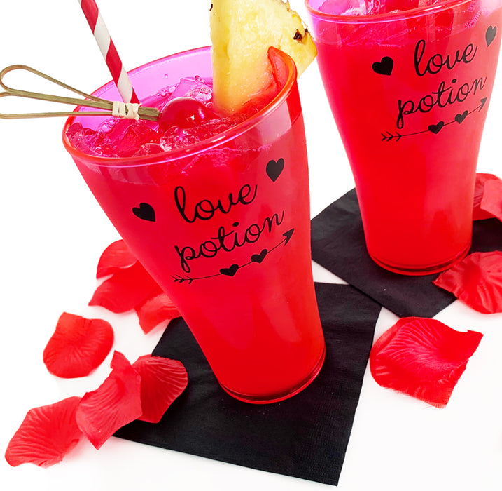 Love Potion Polycarbonate Cup - Neon Pink
