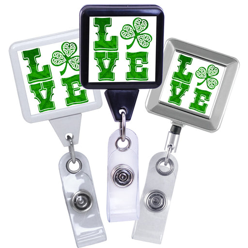 LOVE Irish Series, Square ID Badge Reel