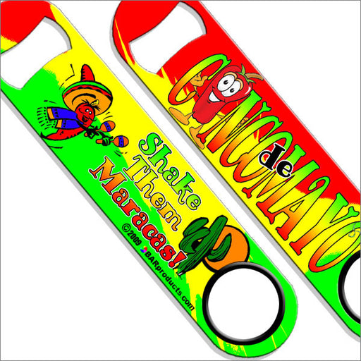 Speed Bottle Opener / Bar Key - Shake The Maracas