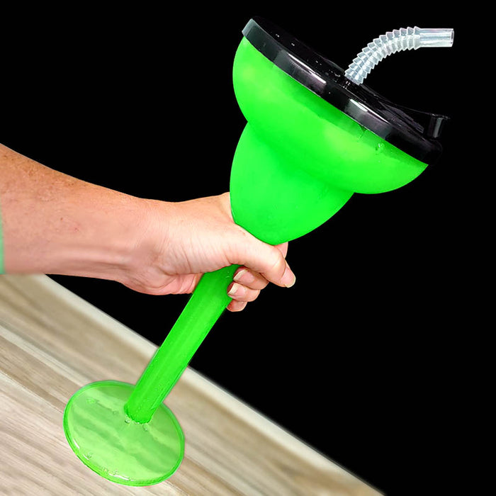 BarConic®Drinkware - Margarita Party Yard - Green - 24 ounce