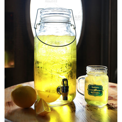 Mason Jar Beverage Dispenser - Action