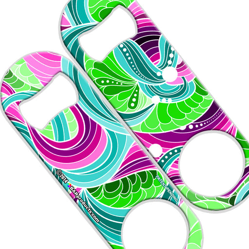 Speed Bottle Opener - Medium Sized 5 inch - Pretty Abstract-800
